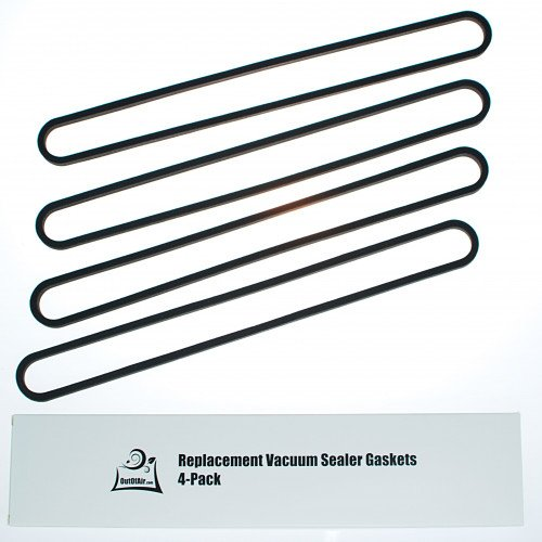 OutOfAir Replacement FoodSaver Vacuum Sealer Upper Gasket Assembly Replaces Item T910-00075 - 4 Pack