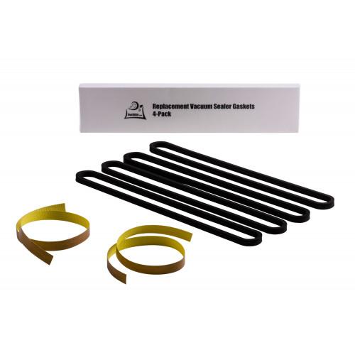 FoodSaver Repair Kit: Replacement Gaskets and Teflon Heat Tape - FoodSaver Vacuum Sealer Upper Gasket Assembly Replaces Item T910-00075 - 4 Pack