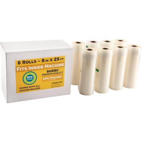 Outofair 8 X 25 Vacuum Sealer Bags Rolls